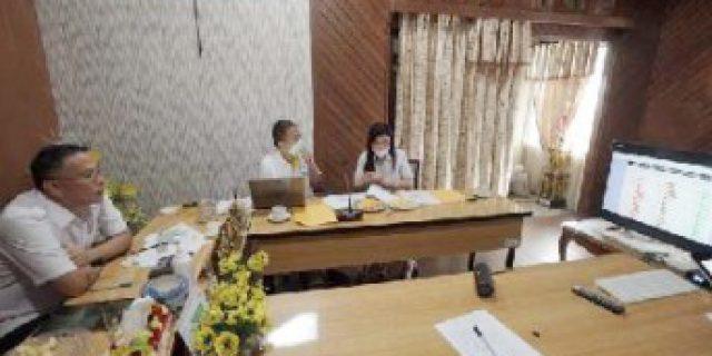 Via Vicon Walkot Eman Lapor Capaian RKPD kepada Gubernur