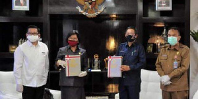 Disampaikan Lewat Vidcon, BPK RI Berikan Opini WTP ke Pemkot Manado