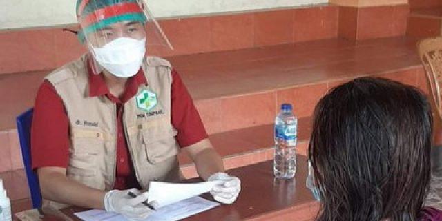 Puskesmas Tumpaan Gelar Vaksinasi Di Tangkuney