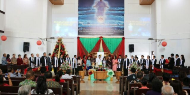 Ibadah KKR Digelar Di HUT Kota Tomohon ke-15