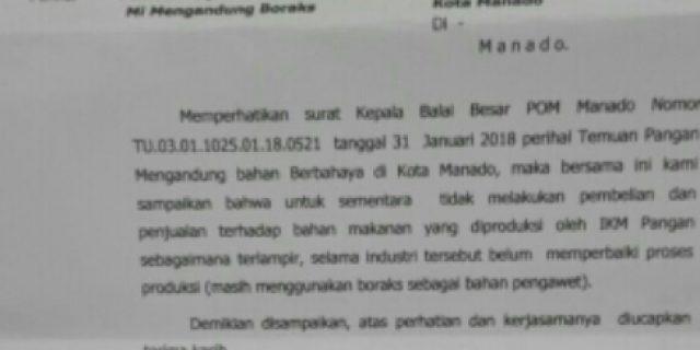 Mie Campur Boraks, Pelaku Didesak Diproses Hukum Jangan Hanya Teguran