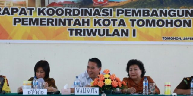 Walikota Eman Buka Rakor Pembangunan Triwulan I 2018