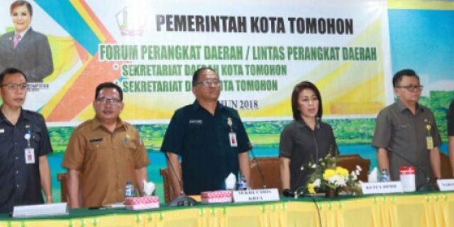 Selaraskan Program, Pemkot Tomohon Gelar Forum Perangkat Daerah