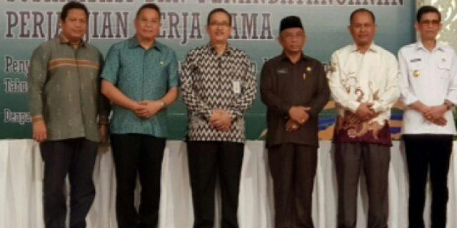 Walikota Eman Hadiri Penandatanganan Kerjasama PIPLP 2018