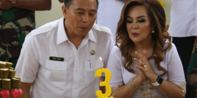 Syukuran Kepemimpinan dan HUT, Walikota Tomohon Resmikan GOR Babe Palar