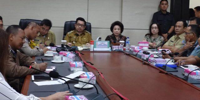Bahas Aturan Penindakan, Wawali Mor Pimpi Rapat Forum Lalu Lintas Pemkot Manado