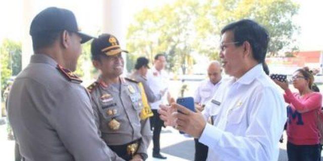 Walikota Manado Hadiri Apel Gelar Pasukan Operasi Mantap Brata Samrat 2018