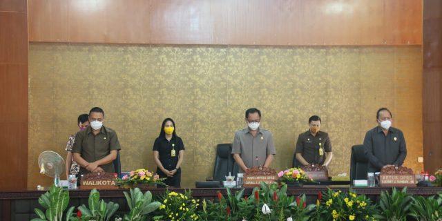 Walikota Eman hadiri Paripurna Penyampaian Fraksi Terkait APBDP 2020