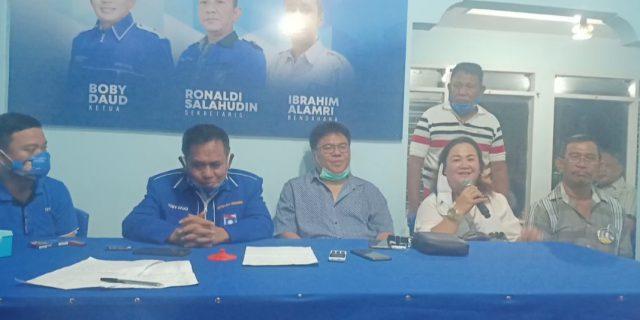 Bendahara & Kader Perindo Kota Manado Dukung MOR-HJP