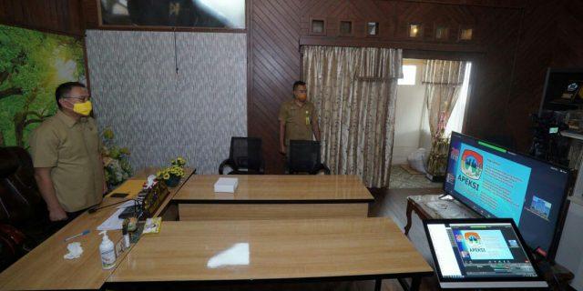 Walikota Tomohon Ikut Webinar Apeksi Soal 4 Pilar