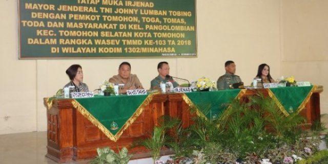 Irjen AD Mayjen TNI Jhony L Tobing Gelar Wasev TMMD, Walikota: Positif Untuk Masyarakat