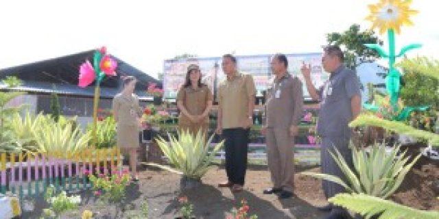Walikota Eman Tinjau Taman Bunga TIFF Woloan Satu Utara