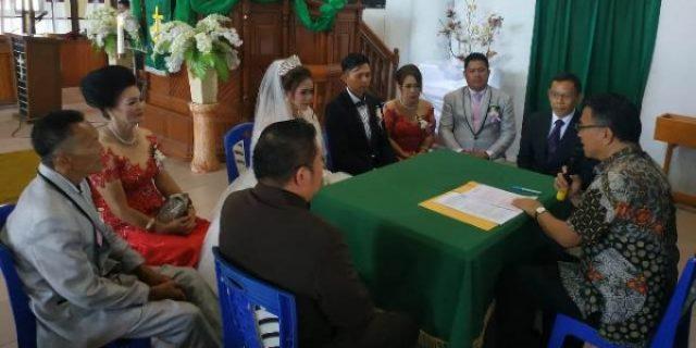 Walikota Eman Jadi Pencatatan Nikah Michael dan Chitra