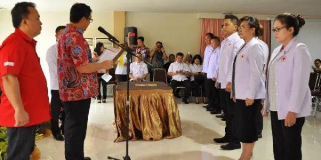 Pengurus PMI Kota Tomohon Dilantik Wagub Sulut