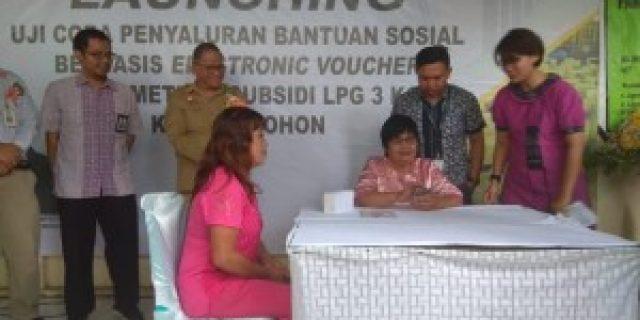 Tomohon Lokasi Uji Coba Peluncuran E-Voucher LPG 3 Kg