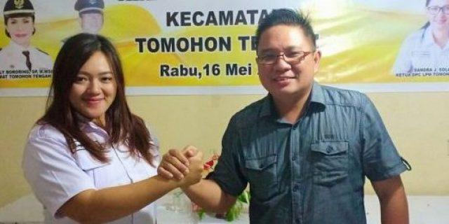 Engelita Wakas Ketua LPM Kelurahan Matani Dua