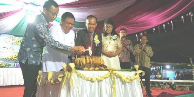 Assisten Mandagi Bawa Sambutan Walikota di Hut ke-9 Kelurahan Tara-tara