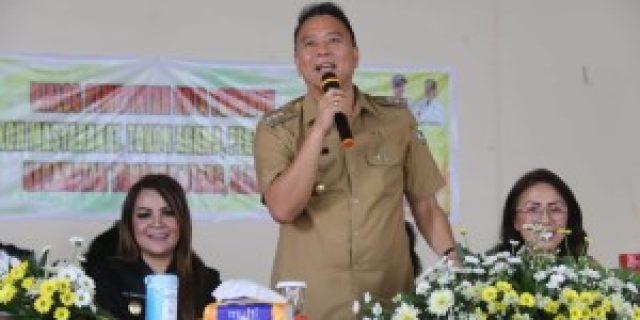 Walikota Eman Ajak Perangkat dan Linmas Tomohon Sukseskan Pemilu 2019