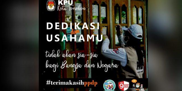 KPU Tomohon Ucapkan Terima Kasih Untuk PPDP