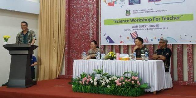 Pemkot Tomohon Bekali Para Guru Dengan Science Workshop